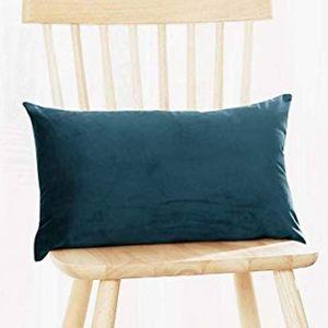 2 for $35 - Navy Blue Velvet Lumbar Pillow